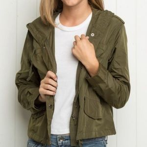 Brandy Melville Army Green Jacket
